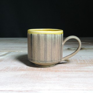 Rose and Amber Striped Teacup