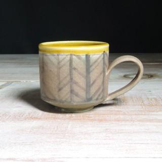 Rose and Amber Herringbone Teacup