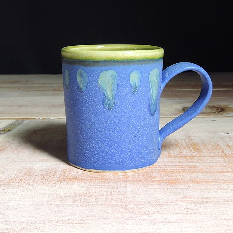 Cobalt and Avocado Abstract Diner Mug