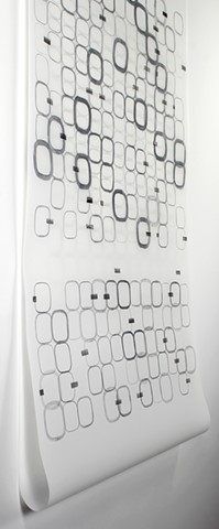 Grid, pattern drawing, graphite on Dura-Lar by Yvette Kaiser Smith