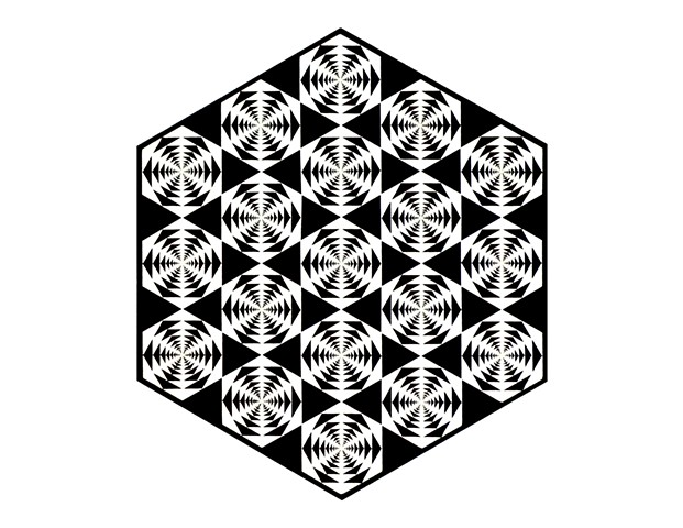"""Nineteen Hexagons"""