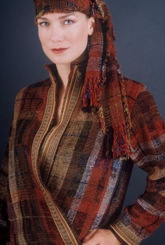 """Earth Jewel'Braided Sherpa Jacket & Scarf"