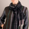 """Chocolate""  Alpaca Zip Jacket and Scarf"