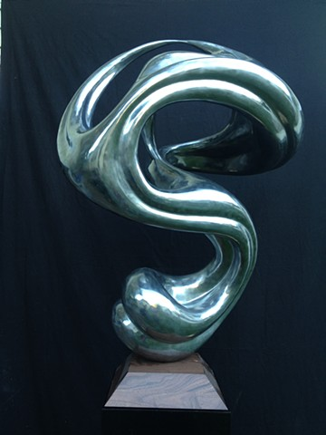 cold-cast coldcast aluminum contemporary sculpture