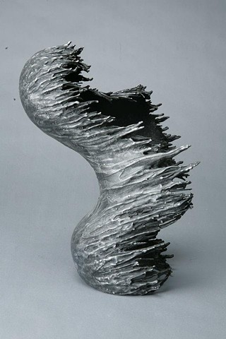 Aluminum dripping metal fluid foundry casting contemporary sculpture