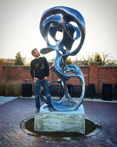 This sculpture was a Percent for the Arts commission by First Washington Realty, Inc.