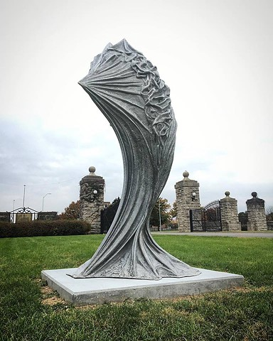 This sculpture was a part of OPEN SPACES in Swope Park, Kansas City, MO