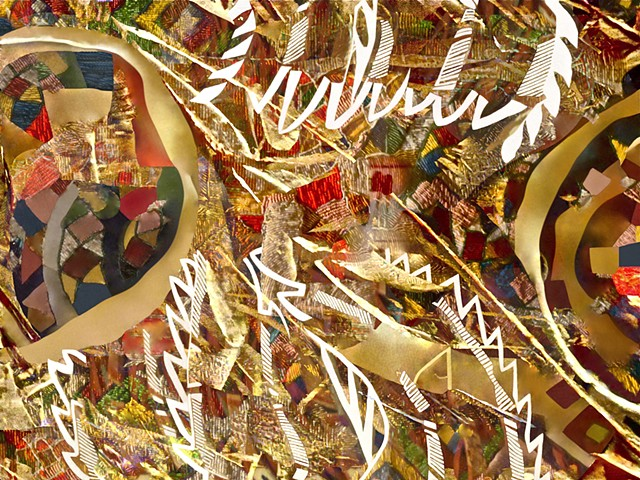 New Ireland Sculpture, Abstract Art, Aphrodite, Chariot, Patterns, digital photography, Computer art based off of digital altered photographs of New Ireland sculpture details, and other digital altered photographs.