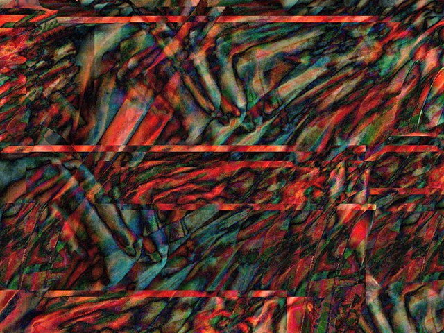 Computer art based off of digital altered photographs, Abstract art