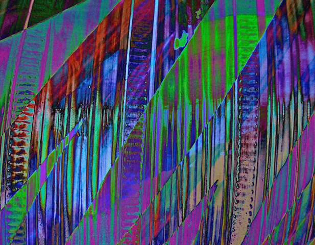 Abstract Art, Hard Edge Abstract Art, Digital Photograph, Color Photograph, Computer art based off of digital altered photographs.