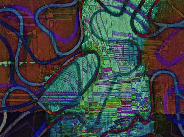 Abstract Art, Hard Edge Abstract Art, Birds, Digital Photograph, Color Photograph, Landscape, Computer art based off of digital altered photographs.