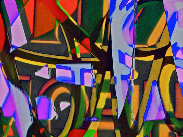 Begin the Bequine, Abstract art, Hard Edge Art, Digital photography, color photography, Computer art, Computer art based off digital altered photographs