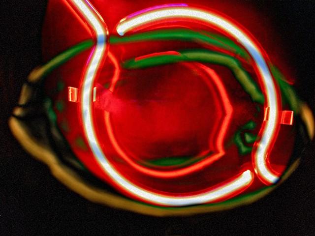 Neon, Neon Eyes, Sum Zero, Some Zero, Zero, Abstract art, Hard Edge Art, Digital photography, color photography, Computer art, Computer art based off digital altered photographs