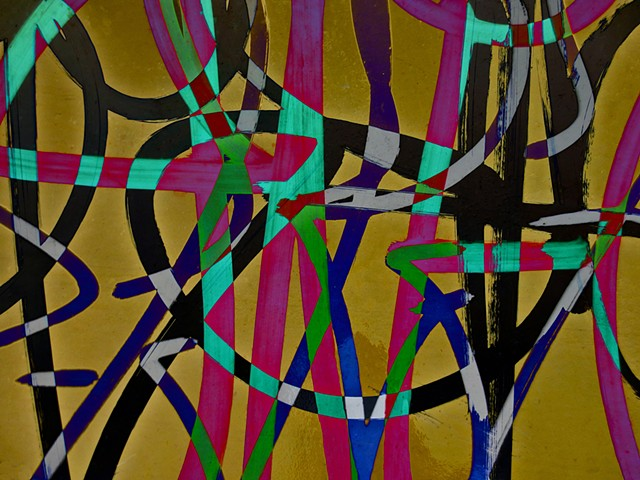 Graffiti, Graffiti Art, Calligraphy, Abstract Art, Hard Edge Art, Colors Photographs, Digital Photograph, Computer art based off of digital altered photographs
