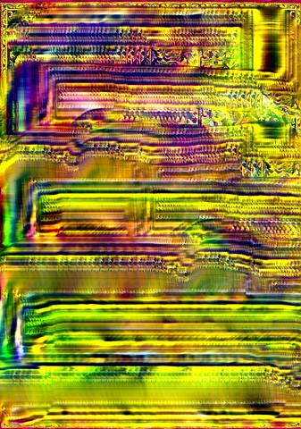 Computer art based off of a digital photograph of a carpet.