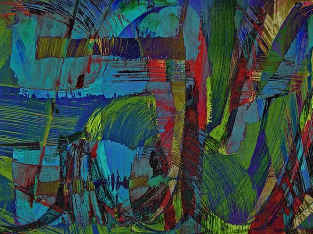 Graffitti, Abstract art, ABX art, ABeX, Digital photography, color photography, Computer art, Computer art based off digital altered photographs