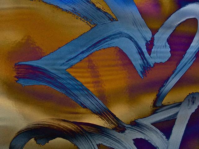 Graffiti, Graffiti art, Hard Edge art, Abstract art, Calligraphy, Computer art, Digital art, Computer art based off of digital altered photographs.