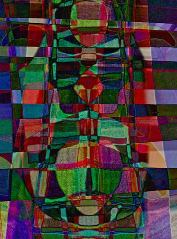 Totem, Totem Pole, Modern Totem Pole, Abstract art, Hard Edge Art, Digital photography, color photography, Computer art, Computer art based off digital altered photographs
