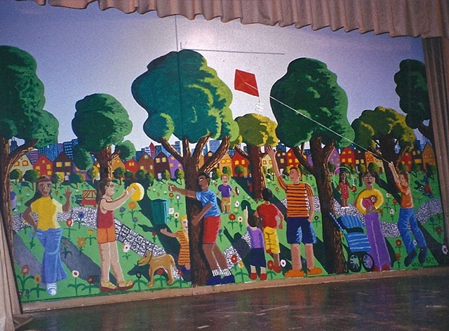8th grade mural about the park in their community