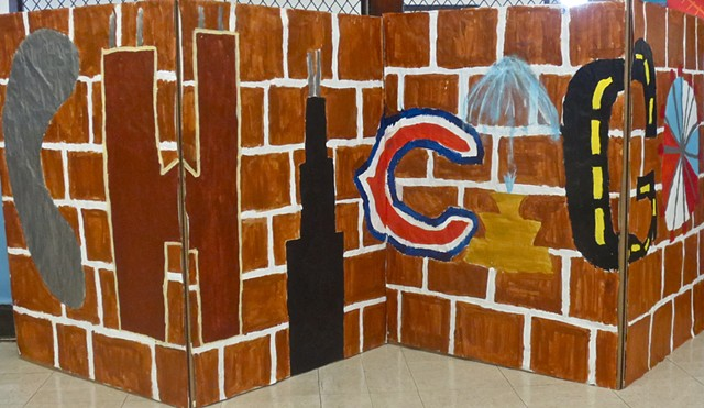 8th grade students at Poe Classical School in Chicago planned and created screens for their Dance and Theater performance.