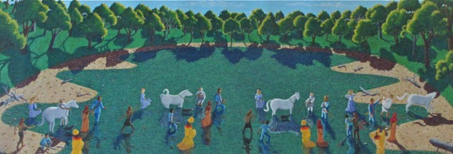 The Horse Sacrifice, King of the World, Contemporary Narrative Painting, Narrative Painting