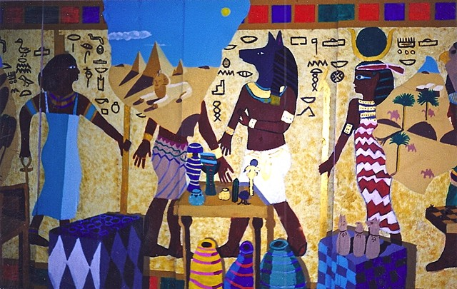 6th grade Egyptian mural detail right