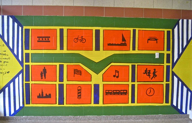 Chicago elementary school murals, theme School Community and Surrounding Community