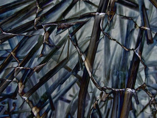 Rope Suspension Bridge, Straw, Abstract art, Hard Edge Art, Digital photography, color photography, Computer art, Computer art based off digital altered photographs