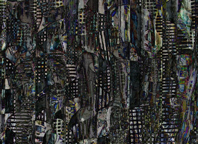 Cityscape, Abstract art, Hard Edge Art, Digital photography, color photography, Computer art, Computer art based off digital altered photographs