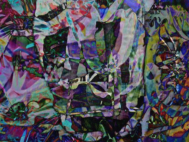 Death Head, Abstract art, Hard Edge Art, Digital photography, color photography, Computer art, Computer art based off digital altered photographs