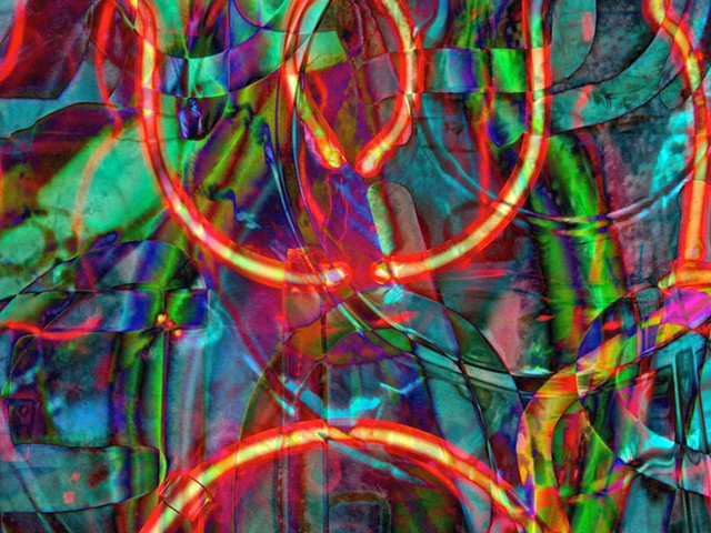 Neon, Neon Light, Graffiti, Graffiti art, Hard Edge art, Abstract art, Calligraphy, Computer art, Digital art, Computer art based off of digital altered photographs.