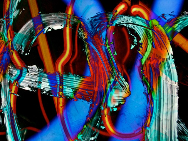 Violin, Waves, Neon, Neon Light, Graffiti, Graffiti art, Hard Edge art, Abstract art, Calligraphy, Computer art, Digital art, Computer art based off of digital altered photographs.