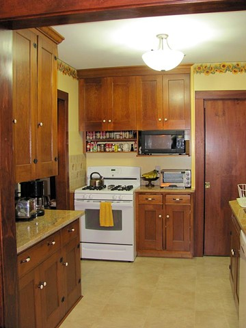 re-used cabinetry