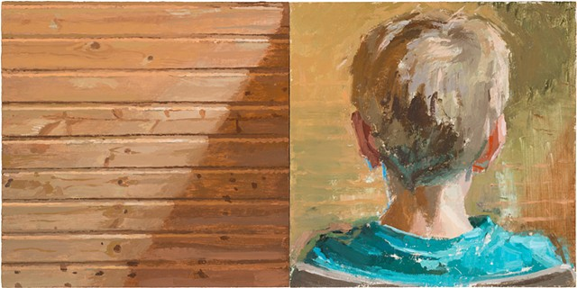 With and Without Finn (diptych)