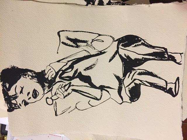 Judy ink portrait
