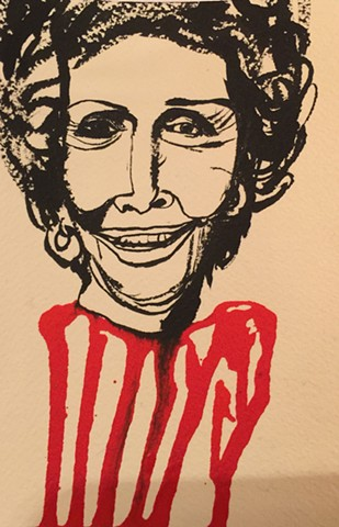 Nancy Reagan Blood Red