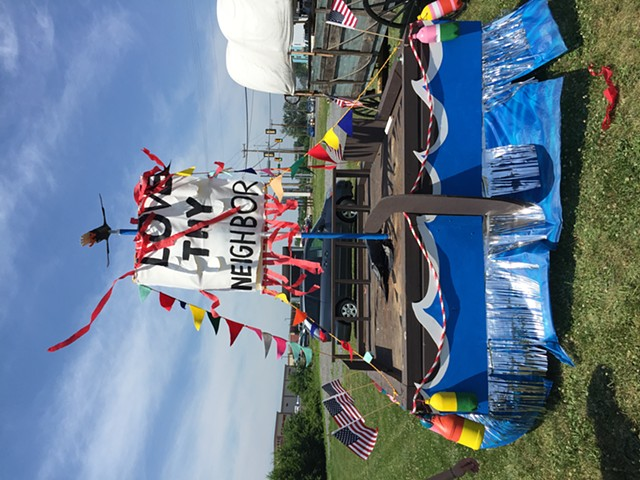 """Oh Susquehanna"" parade float"