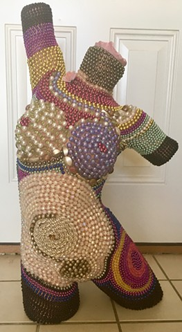 Mardi-Gras Dress Form