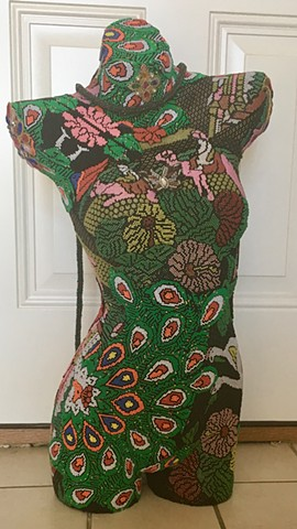 Beaded Dress Form