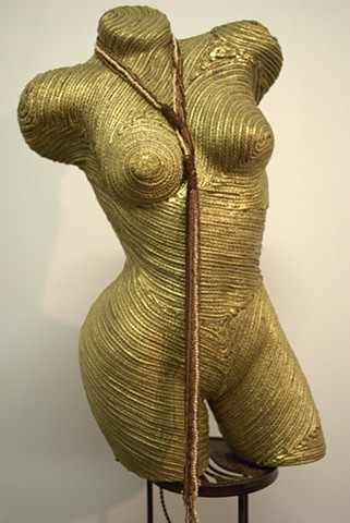 Woman's Standing Body Form Decorated in Gold