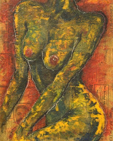 Seated Frontal of Nude Woman