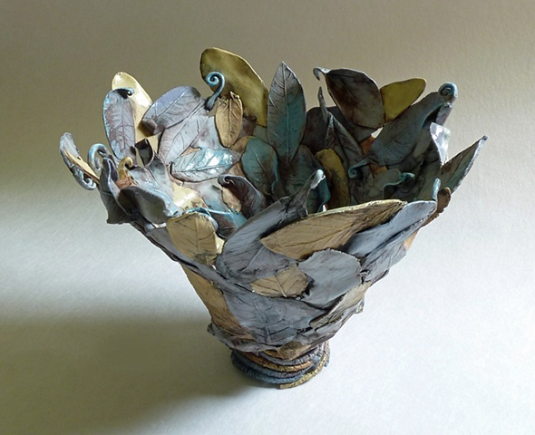 Blue Leaf Bowl