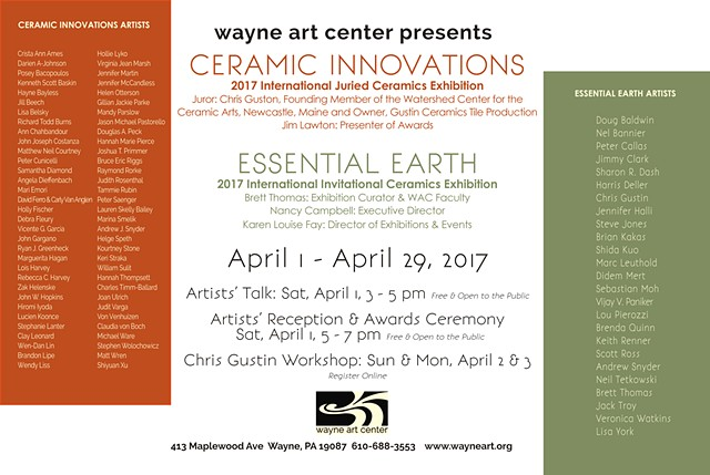 Ceramic Innovations April 1-29, 2017