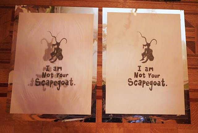 I Am Not Your Scapegoat Lithograph, (2015), The Scapegoat Reliquary, 2018