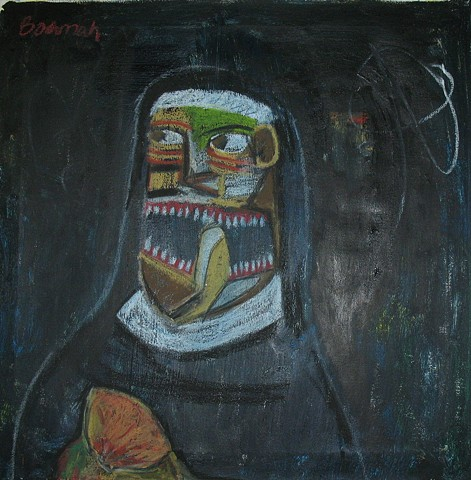 Cubist Mexican Nun with Breast