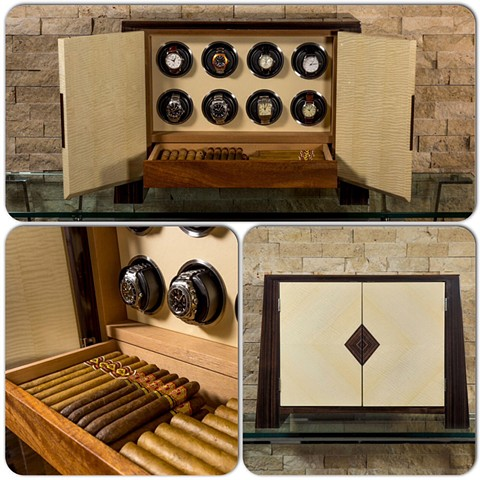 "*""Josephus""* humidor / watch winder combination"