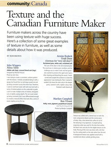 Canadian Woodworking Magazine