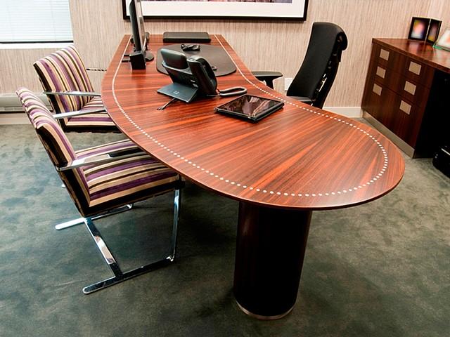 Custom furniture, executive desk, built-in, cabinet, hand crafted, cabinet-maker, artisan, Toronto, unique, design, original