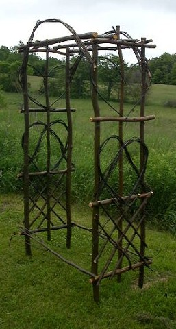 Rustic Garden Arbor. $165