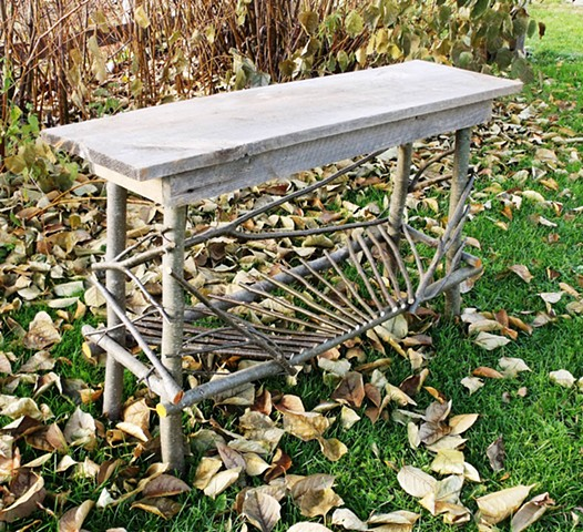 Alder Table, Barnboard Top